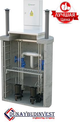 КНС з високоміцного залізобетону (заглибні насоси) 1000-1500 м3/год, фото 2