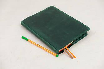 """Обложка для блокнота А5 """"Модель №9"""" Винтажная кожа цвет Зеленый"""