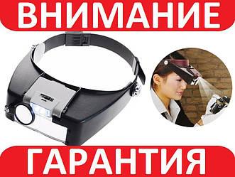 Бинокулярные лупы очки MG81007A (1,5Х 3Х 6,5Х 8Х) с LED подсветкой