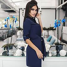 """Короткое шелковое платье-рубашка """"Омега"""" с длинным рукавом (3 цвета), фото 3"""