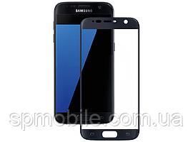Захисне скло Samsung G930F S7 Black (для переклеювання)