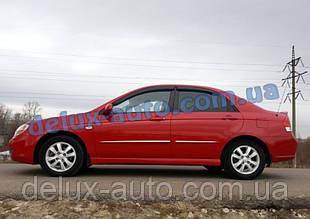 Ветровики Cobra Tuning на авто Kia Cerato I Sd 2004-2008 Дефлекторы окон Кобра для Киа Церато 1 седан 2004