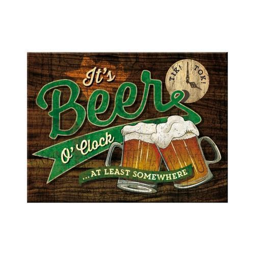 """Магнит Nostalgic-Art """"Beer O`Clock Glasses (14378)"""