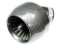 Фильтр нулевого сопротивления воздушный карбон-турбина изогнутый Ø42 мм