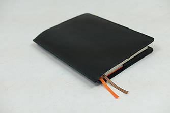 """Обложка для блокнота А5 """"Модель № 10"""" Винтажная Кожа цвет Черный"""