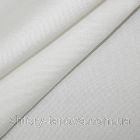 Непромокаємий тефлонова штора для ванної, басейну дралон однотонний біло-молочний