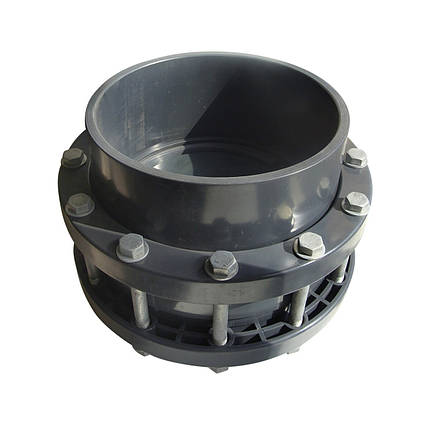 Обратный клапан ПВХ ERA межфланцевый с фланцами 160 мм, фото 2