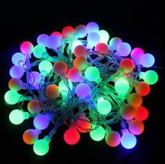 Гирлянда светодиодная новогодняя 40 LED 5,0 метров шар