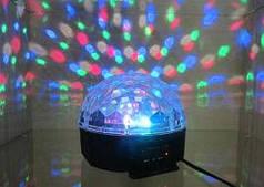 Лампа-проектор светодиодный новогодний LED музыкальный диско шар с MP3