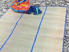 Пляжный коврик сручками для переноски тройной 170*150 см
