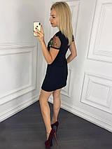 """Летнее кобинированное мини-платье """"MILLY"""" с вышивкой и коротким рукавом (3 цвета), фото 3"""