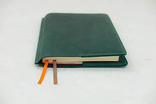 """Обложка для блокнота А5 """"Модель № 10"""" Винтажная кожа цвет Зеленый, фото 2"""