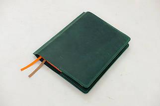 """Обложка для блокнота А5 """"Модель № 10"""" Винтажная кожа цвет Зеленый, фото 3"""