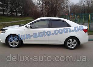 Ветровики Cobra Tuning на авто Kia Cerato II Sd 2009-2013 Дефлекторы окон Кобра для Киа Церато 2 седан 2009