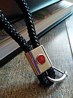 Плетений шкіряний брелок для авто Fiat  кожаный для фіат Брелок для автомобильных ключей