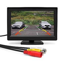 """Автомобильный монитор (экран) UKC TFT LCD 4,3"""" для двух камер (1309)"""