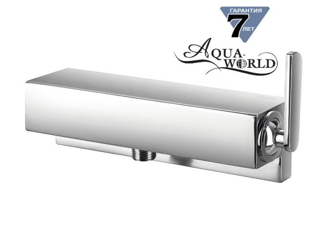 Смеситель для душевой кабины квадратный настенный Aqua-World СМ40Кд.14