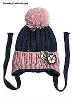 Детская шапка с помпоном, фото 1