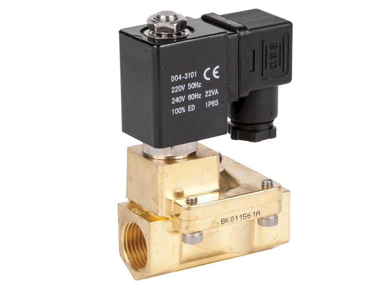 """Клапан электромагнитный ZW-20N 3/4"""" нормально-закрытый прямого действия (Китай)"""