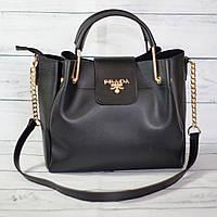 Женскаяmini сумка Prada (Прада), черная ( код: IBG040B )