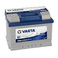 АККУМУЛЯТОР 6СТ-60A VARTA BLUE DYNAMIC D59 (560409054),12V, 60AH (-/+) ВАРТА ЕВРО НИЗКИЙ, 12В, 60АЧ, EN540А