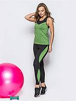 Костюм женский для фитнеса и бега Go Fitness green