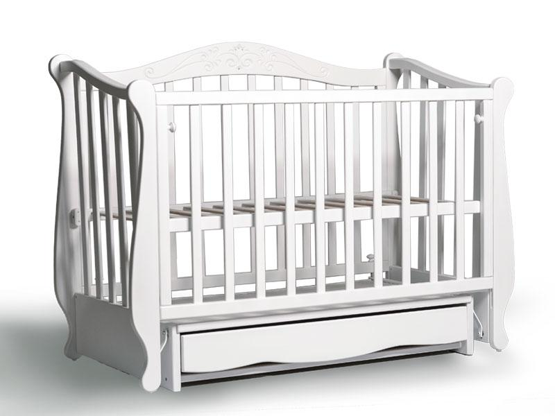 Кроватка Колисани Корона (белая)