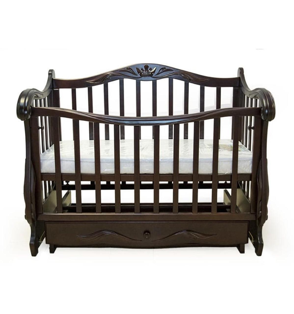 Кроватка Колисани Корона (орех)