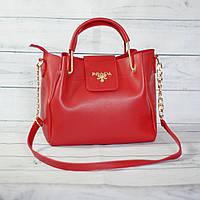 Женскаяmini сумка Prada (Прада), красная