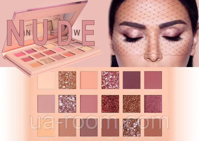Палетка теней Huda Beauty New Nude,18 цветов, фото 2
