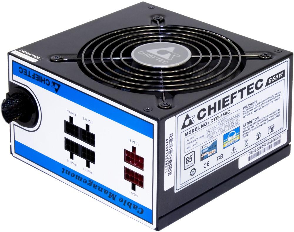 Блок питания Chieftec A-80 CTG-650C 650W Б/У