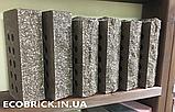 Кирпич облицовочный пустотелый ECOBRICK скала тычок коричневый, фото 2