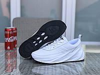 Кроссовки Adidas Shark мужские, белые, в стиле Адидас Шарк, замша, текстиль код SD-8291