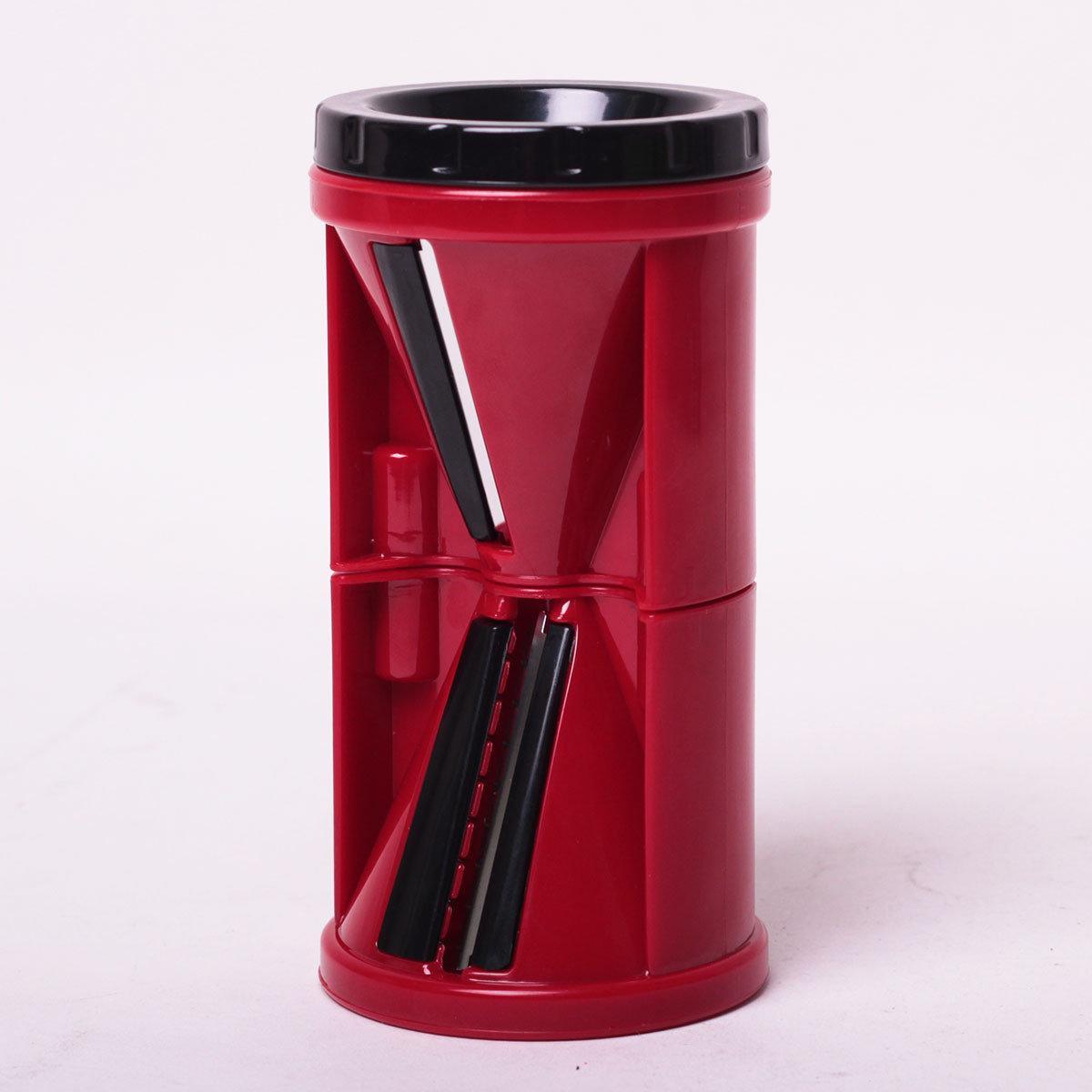 Спиральная шинковка Kamille KM-10087 пластиковая 7*7*13,5 см красная