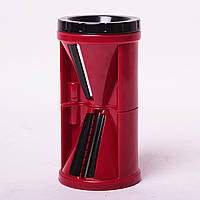 Спиральная шинковка Kamille KM-10087 пластиковая 7*7*13,5 см красная, фото 1