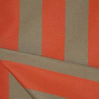 Дралон полоска бежево-оранжевая тефлон ткань на подушки для садовой мебели, Пошив чехлов на садовые качели