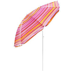 Зонт пляжный 1.8/1.65 метра с наклоном и anti-UF разноцветные