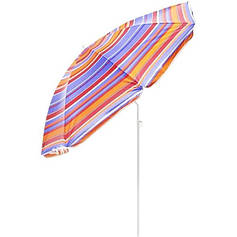 Зонт пляжный 2.2/1.95 метра с наклоном и anti-UF разноцветные