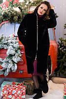 ИСКУССТВЕННАЯ ШУБА НА СИНТЕПОНЕ черный ФИНЛЯНДИЯ(3 оттенка) с 42 по 60 размер(лб)