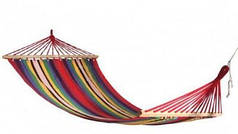 Гамак мексиканский тканевый 150*200 см с длинными планками