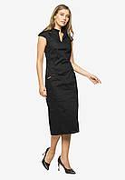 Элегантное деловое платье-футляр длины миди Modniy Oazis черный 90386/2, фото 1