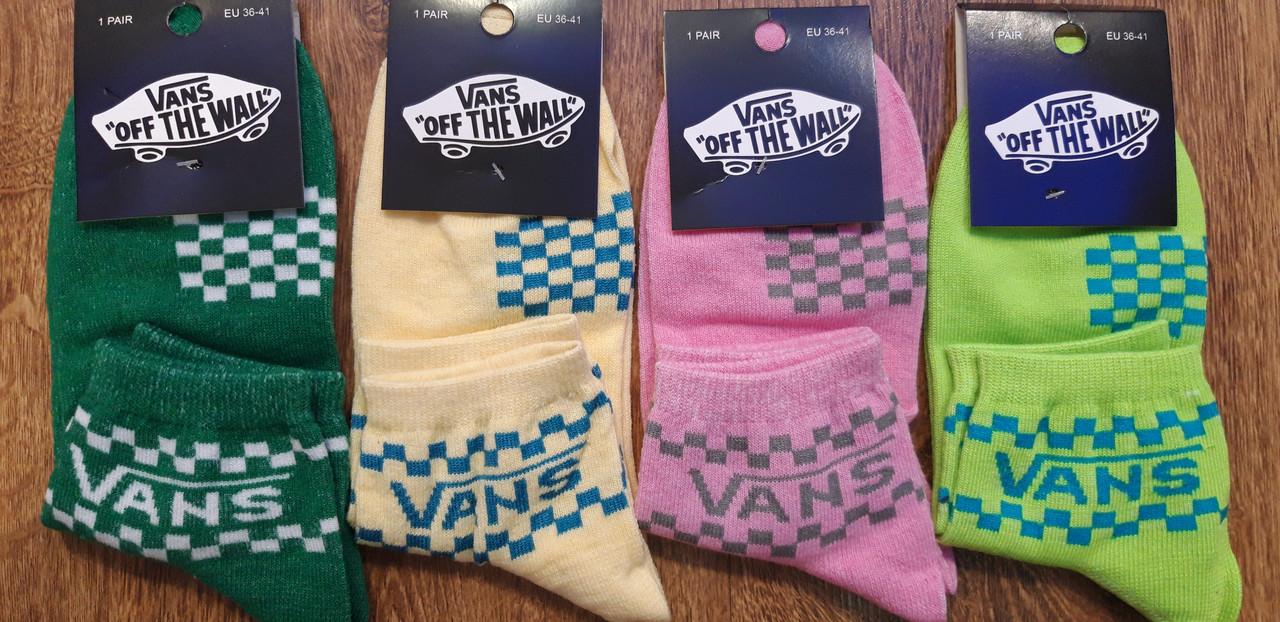 """Жіночі стрейч.шкарпетки """"Vans""""Туреччина(36-41),середні"""