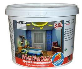 Латексная краска Ispolin Mattlatex 3л