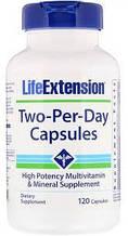 Мультивитаминный комплекс Life Extension Two-Per-Day Tablets 120tabs