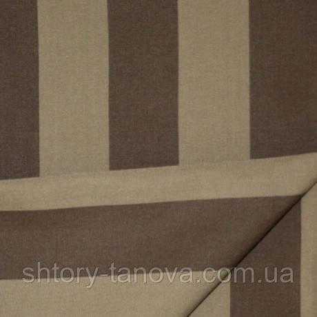 Ткань с тефлоновым покрытием коричневый Дралон полоска для уличных штор беседки, террас, подушек