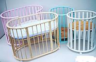 Кроватка Колисани овальная 160х60 орех