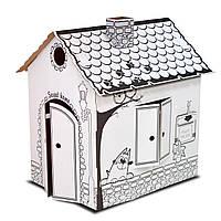 Картонный домик раскраска (сборной развивающий домик раскраска для детей)