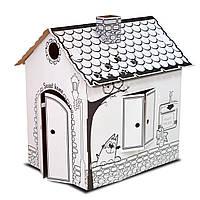 Картонный домик раскраска (сборной развивающий домик-раскраска для детей)