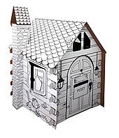 """Картонный домик-раскраска """"Коттедж"""" (сборной развивающий конструктор-раскраска для детей от 3-х лет)"""