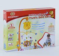 Карусель 6919  музыкальная, на батарейке, пластмассовые игрушки